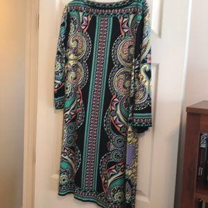 NWOT ECI 3/4 length dress